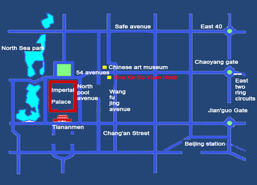 LOCATION OF Sheke Boyuan Hotel Beijing